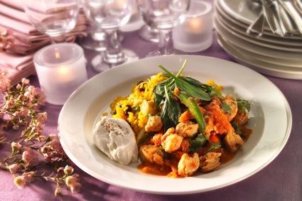 Indisk gryta med Quorn Bitar och pilaffris 25 portioner recept