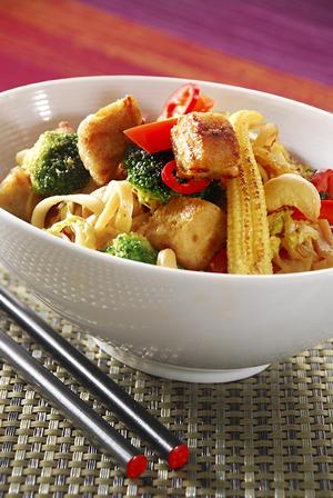 Stir fry med Bitar med kyckling recept